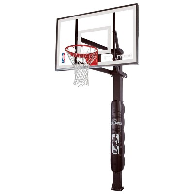 Spalding 88825g 54 Glass In Ground Basketball Hoop All Court Sports