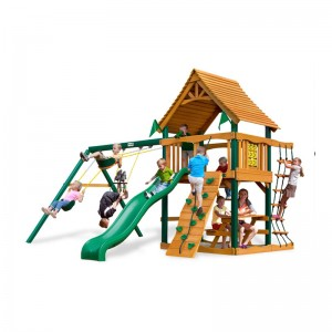 wooden swing set gorilla playsets caribou