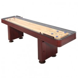 Carmelli 9' Challenger Deluxe Shuffleboard Table - Cherry