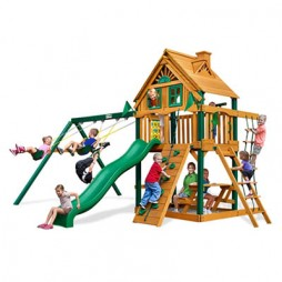 Gorilla Playsets Chateau Treehouse Swing Set w/ Timber ShieldGorilla Playsets Chateau Treehouse Swing Set w/ Timber Shield
